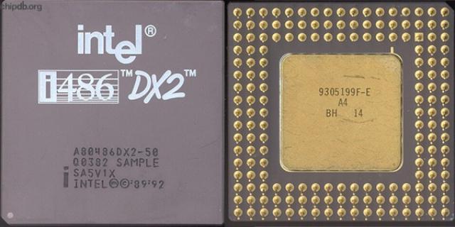 Микропроцессор Intel® i486™DX2™ помог создать прототип первой программы