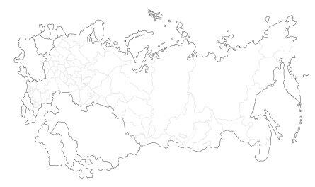 Карта регионов России и СНГ